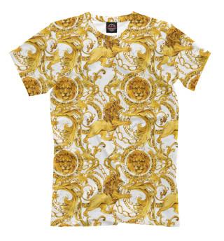 Мужская футболка Versace львы