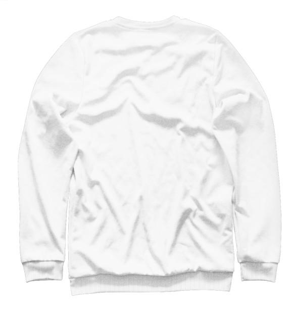 Мужской свитшот с изображением Hello World цвета Белый