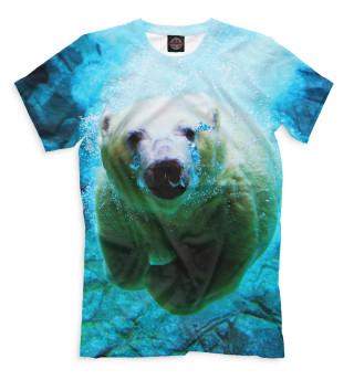 Белый медведь под водой