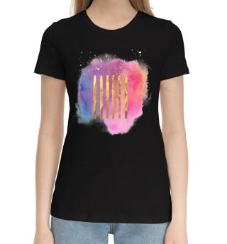 Женская хлопковая футболка Abstraction
