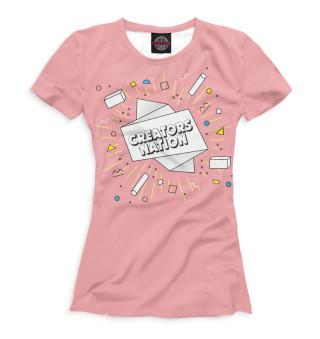 Женская футболка CreatorsNation