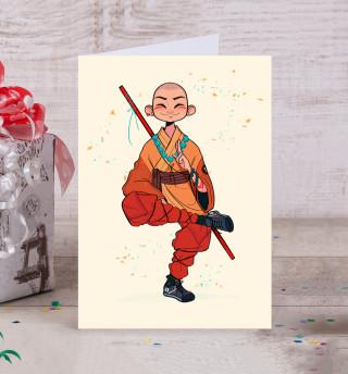 Довольный монах Шаолиня
