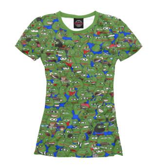 Женская футболка Грустные лягушки Пепе