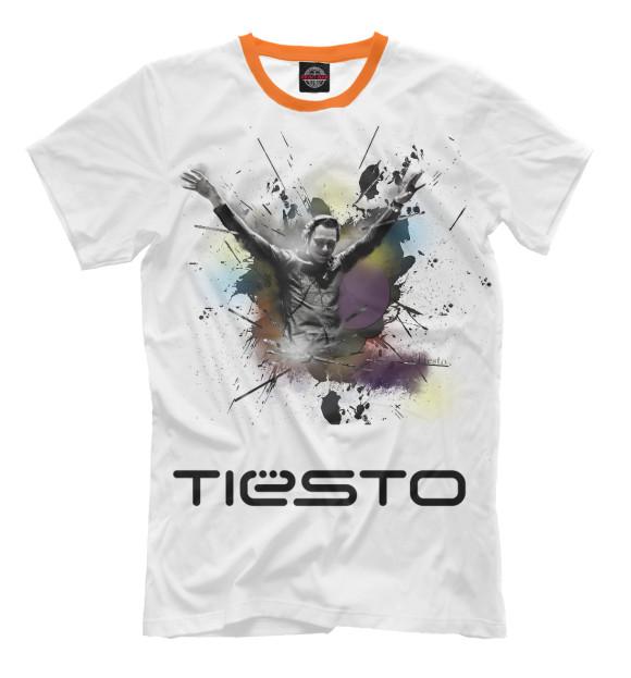 Мужская футболка с изображением Tiesto цвета Молочно-белый