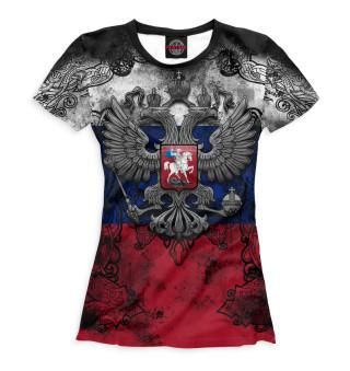 Женская футболка Герб