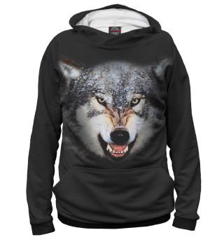 Мужское худи Волк