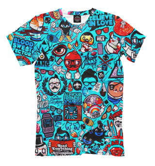 Мужская футболка Стикербомбинг