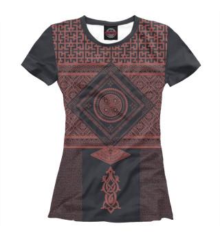 Женская футболка Славянская обережная вязь