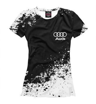 Женская футболка Audi abstract sport uniform