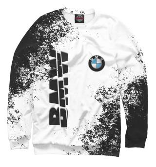 Мужской свитшот BMW | БМВ разрезанное лого