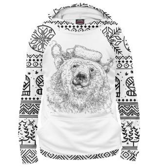 Мужское худи Зимний медведь
