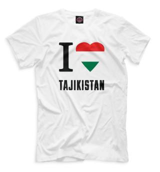 Мужская футболка I love Tajikistan