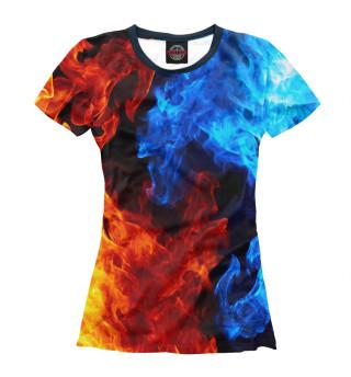 Женская футболка Огонь и Вода
