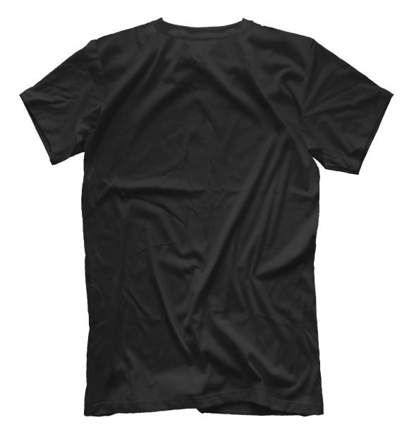 Мужская футболка с изображением Train hard цвета Белый