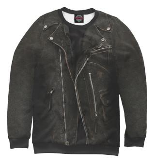 Мужской свитшот Кожаная куртка терминатор