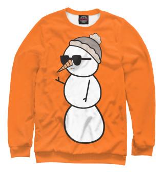 Мужской свитшот Крутой снеговик