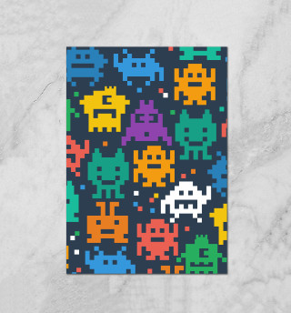 Монстры пиксели