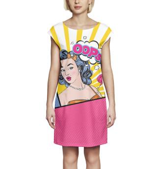 Платье без рукавов Поп-арт