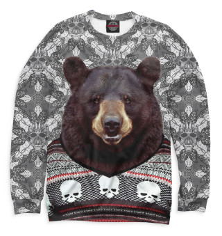 Мужской свитшот Медведь в свитере