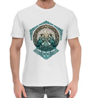 Мужская хлопковая футболка Вороны Одина