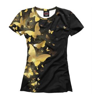 Женская футболка Бабочки