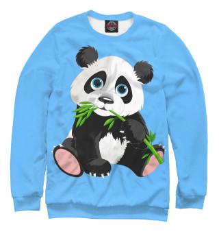 Мужской свитшот Панда и бамбук