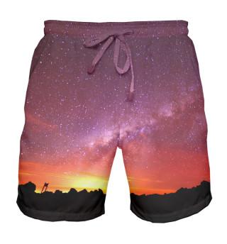 Мужские шорты Звездное небо
