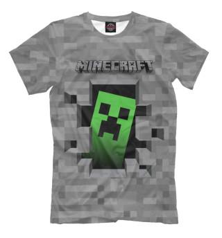 Мужская футболка Minecraft Creeper