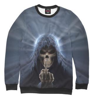 Женский свитшот Смерть показывает палец