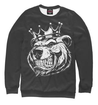 Мужской свитшот Медведь король