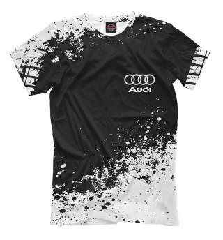 Мужская футболка Audi abstract sport uniform