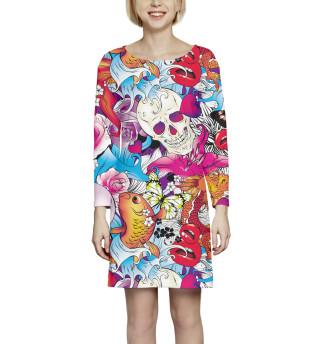 Платье с рукавом Арт