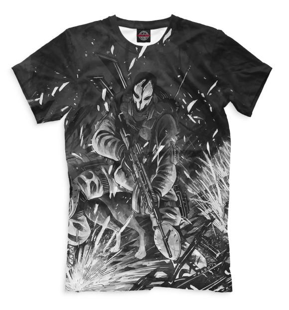 Мужская футболка с изображением Ghost цвета Черный