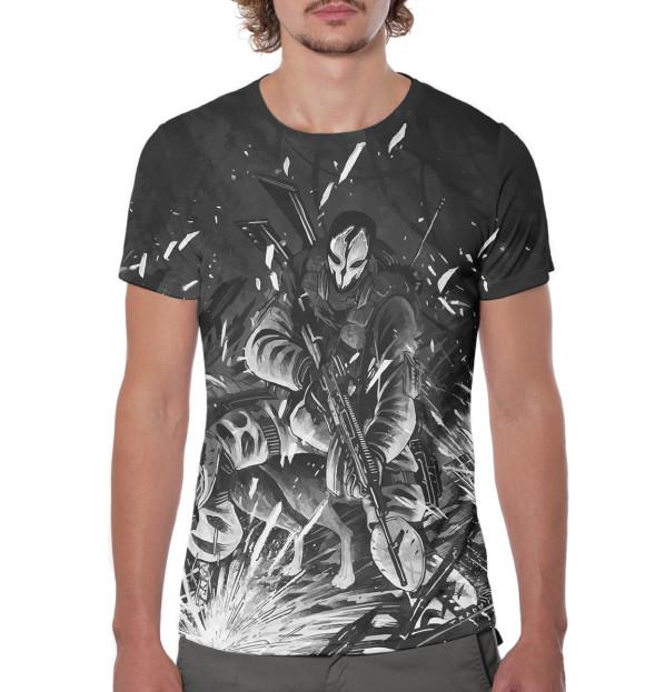 Мужская футболка с изображением Ghost цвета Белый