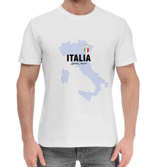 Мужская хлопковая футболка Италия