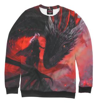 Мужской свитшот Дракон