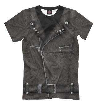 Мужская футболка Байкерская куртка