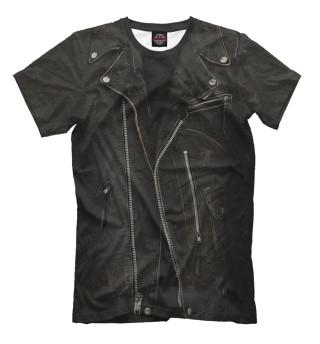 Мужская футболка Кожаная куртка терминатор