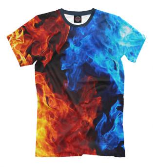 Мужская футболка Огонь и Вода