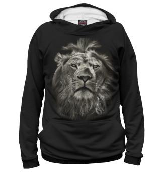 Мужское худи Лев