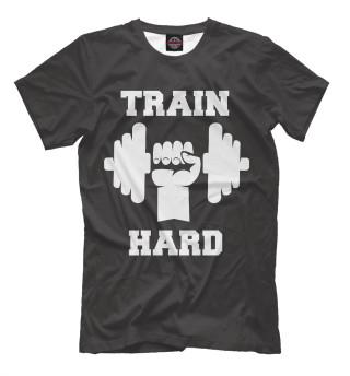 Мужская футболка Train hard