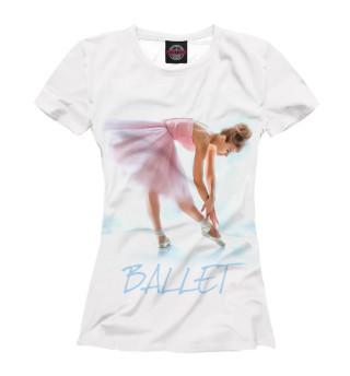 Футболка для девочек Балерина