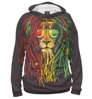 Мужское худи Лев с дредами