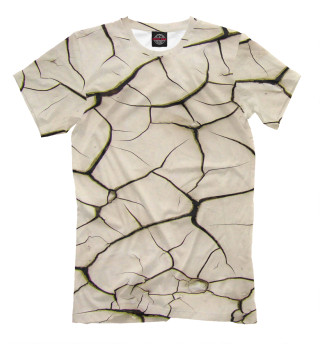 Мужская футболка Трещины