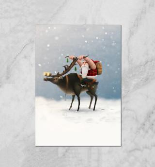 Дед Мороз-байкер