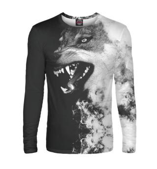Мужской лонгслив Волк
