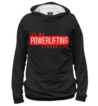 Мужское худи Powerlifting its my life