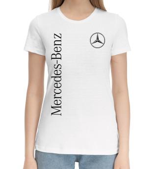 Женская хлопковая футболка Mercedes-Benz