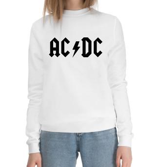 Женский хлопковый свитшот AC/DC