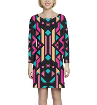 Платье с рукавом Геометрия